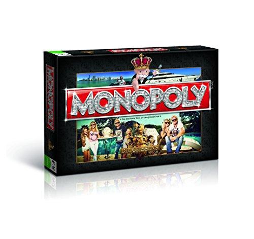 Monopoly Die Geissens - Deluxe Brettspiel | Gesellschaftsspiel | Spiel | 8 goldene Sammler Spielfiguren | Deutsch