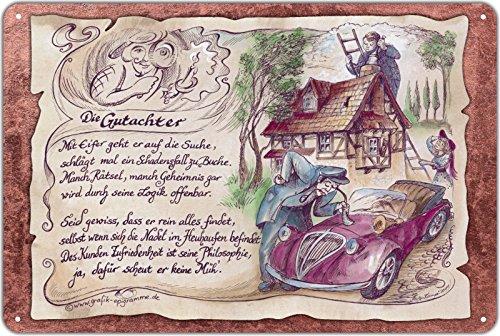 Geschenk Gutachter Sachverständiger Blechschild 30 x 20 cm