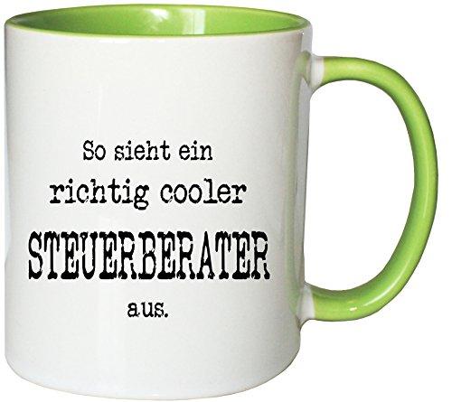 Mister Merchandise Kaffeetasse Becher So Sieht EIN richtig Cooler Steuerberater