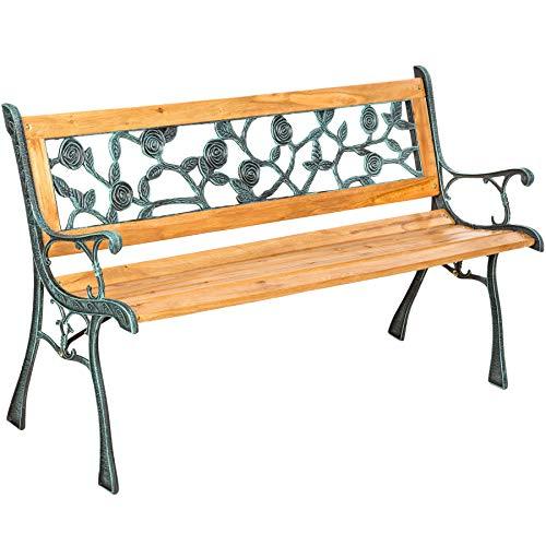 TecTake Gartenbank Parkbank Holz - Diverse Modelle - (