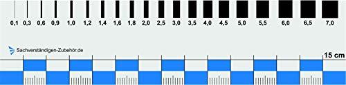 Sachverständigen-Zubehör - Rissbreitenlineal | Dokumentationshilfe praktisches Risslineal | Riss Karte Fotodokumentation | exaktes Rißlineal (15 cm)