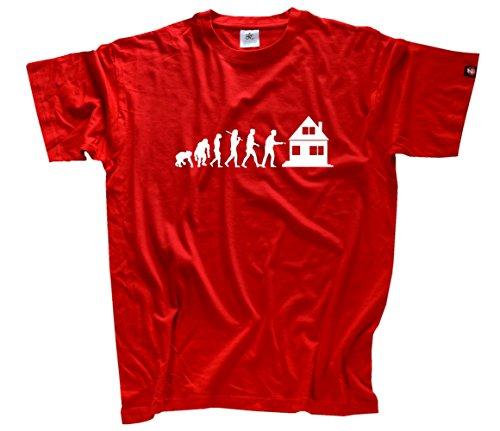 Makler Immobilienmakler Evolution T-Shirt Rot L